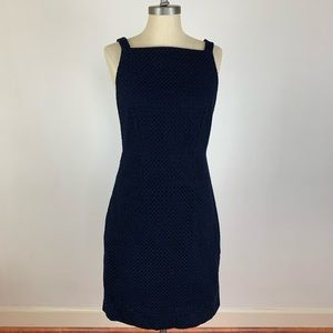 J. Crew Navy Blue Eyelet Dress